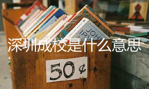 深圳成校是什么意思