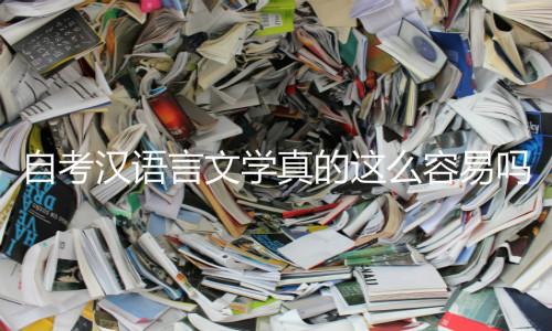 自考汉语言文学容易吗