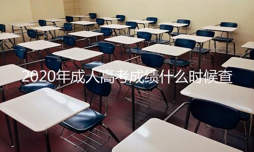 2020年成人高考成绩查询