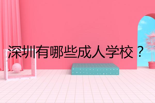 深圳有哪些成人学校