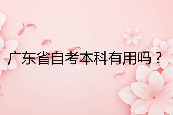 广东省自考本科