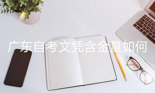 广东自考文凭含金量如何
