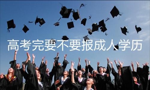 高考完要不要报成人学历